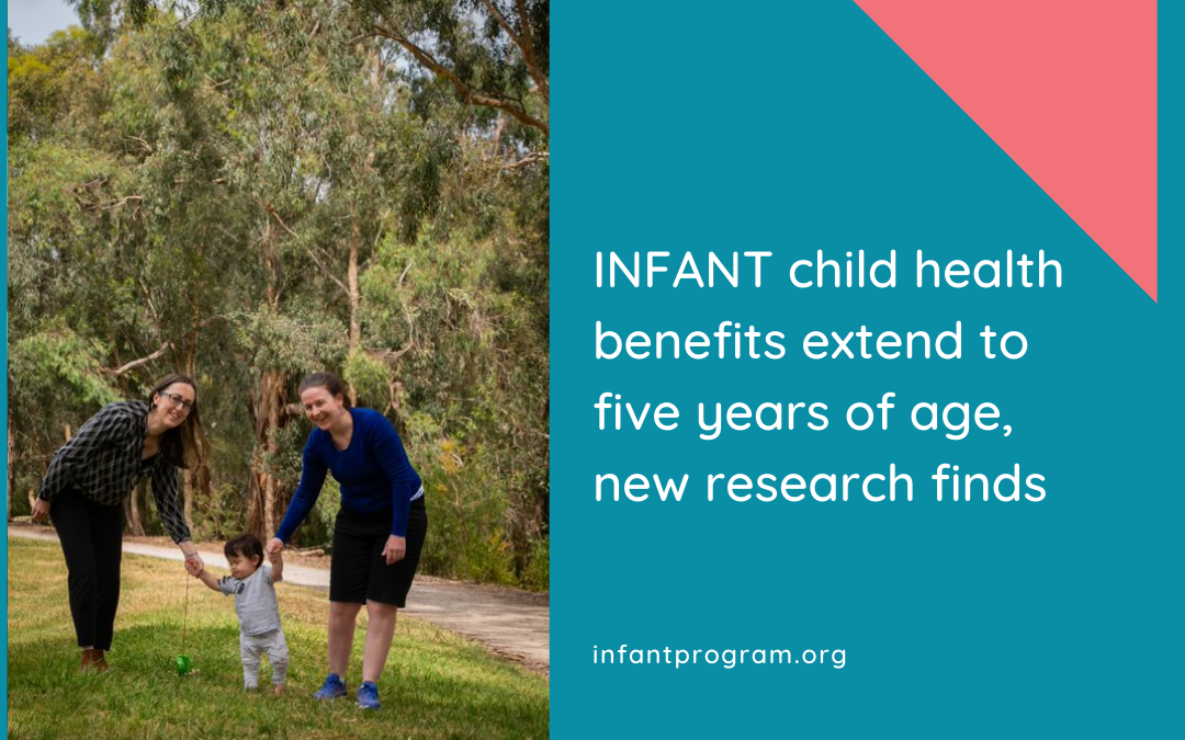 INFANT child health benefits extend to five years of age, new research finds
